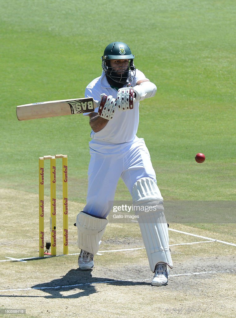 <a gi-track='captionPersonalityLinkClicked' href=/galleries/search?phrase=Hashim+Amla&family=editorial&specificpeople=647392 ng-click='$event.stopPropagation()'>Hashim Amla</a> of South Africa pulls a delivery during day 3 of the 1st Test match between South Africa and Pakistan at Bidvest Wanderers Stadium on February 03, 2013 in Johannesburg, South Africa.