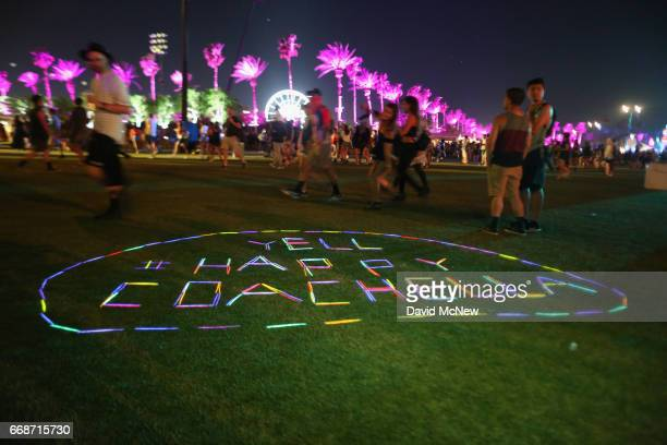 Hashtag is seen during day 1 of the Coachella Valley Music And Arts Festival at the Empire Polo Club on April 14 2017 in Indio California