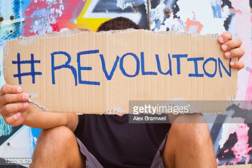 Hashtag Revolution sign : Foto de stock