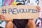 Hashtag Revolution sign