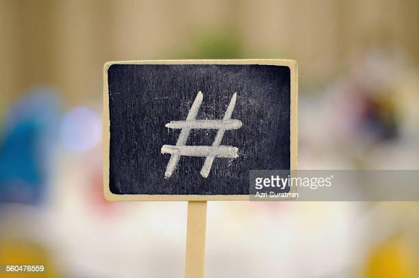 Hashtag symbol