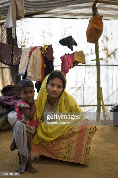 COX'S BAZAR BANGLADESH FEBRUARY 20 Hasina Begum one of the women who were raped by Myanmar armed forces members takes shelter at Leda unregistered...