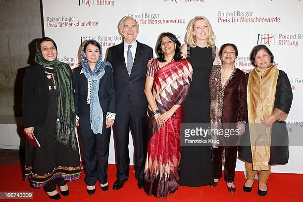 Hasina Safi Leeda Yacoobi Roland Berger Kalpana Viswanath Maria Furtwaengler Asma Jahangir and Suneeta Dhar attend the 'Roland Berger Human Dignity...