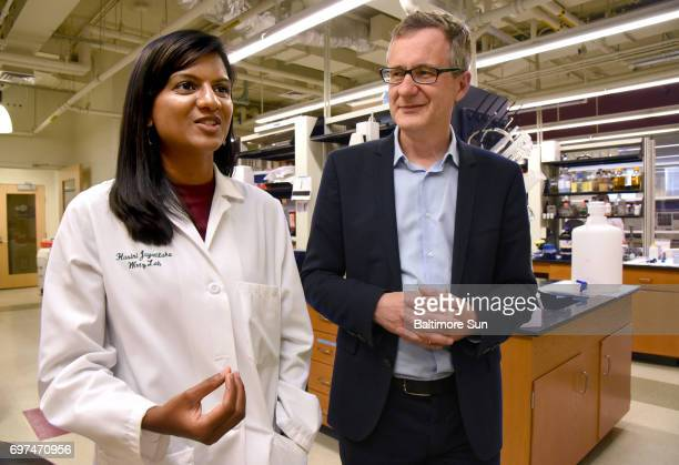 Hasini Jayatilaka left a postdoctoral fellow and Denis Wirtz professor of chemical and biomedical engineering who work together at the Institute of...