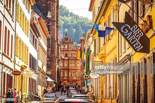 Haspelgasse with Hotel Ritter, Heidelberg,Germany
