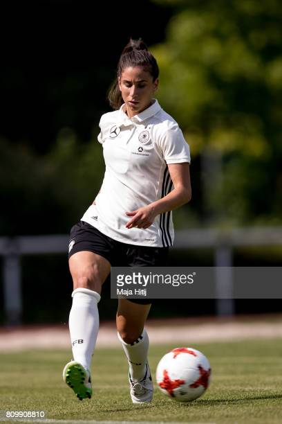 Hasret Kayikci controls the ball during the training session on July 6 2017 in Heidelberg Germany