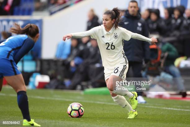 Hasret Kayikci of Germany in action during the France Vs Germany SheBelieves Cup International match at Red Bull Arena on March 4 2017 in Harrison...