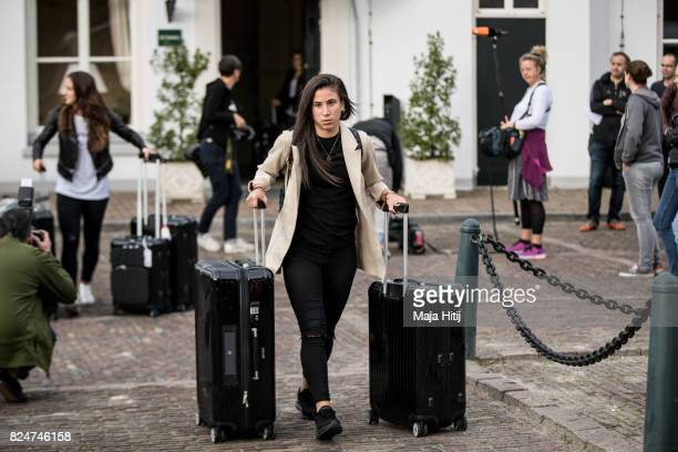 'SHERTOGENBOSCH NETHERLANDS JULY 31 Hasret Kayikci of Germany leaves the team base hotel on July 31 2017 in 'sHertogenbosch Netherlands