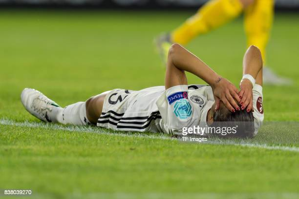Hasret Kayikci of Germany on the ground during the Group B match between Germany and Sweden during the UEFA Women's Euro 2017 at Rat Verlegh Stadion...
