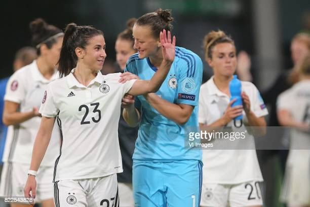 Hasret Kayikci of Germany women goalkeeper Almuth Schult of Germany women during the UEFA WEURO 2017 Group B group stage match between Russia and...