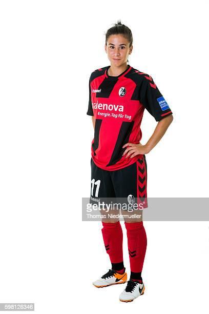 Hasret Kayikci of SC Freiburg poses during the Allianz Women's Bundesliga Club Tour on August 31 2016 in Freiburg im Breisgau Germany