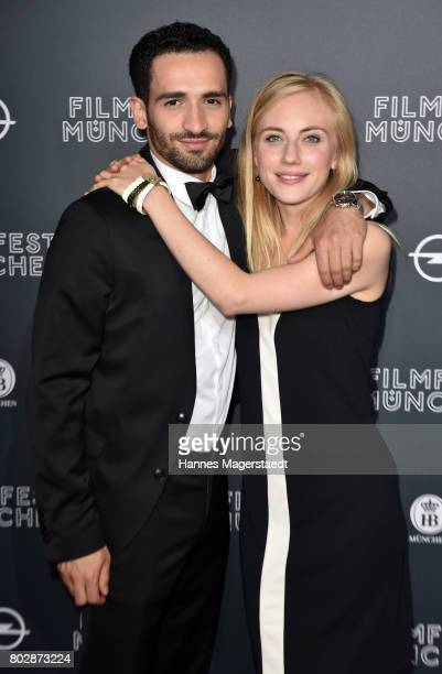 Hassan Akkouch and Elisa Schlott attend the 'Fremde Tochter' Premiere during Film Festival Munich 2017 at Arri Kino on June 28 2017 in Munich Germany