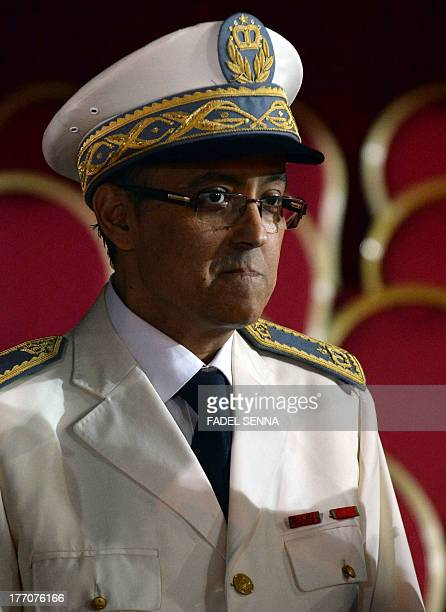 Hassan Amrani governor of the Moroccan capital Rabat looks on as Moroccan military troops parade to celebrate and mark the 60th anniversary of the...