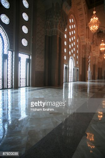 Hassan Ii Mosque Interior Casablanca Morocco Stock Photo