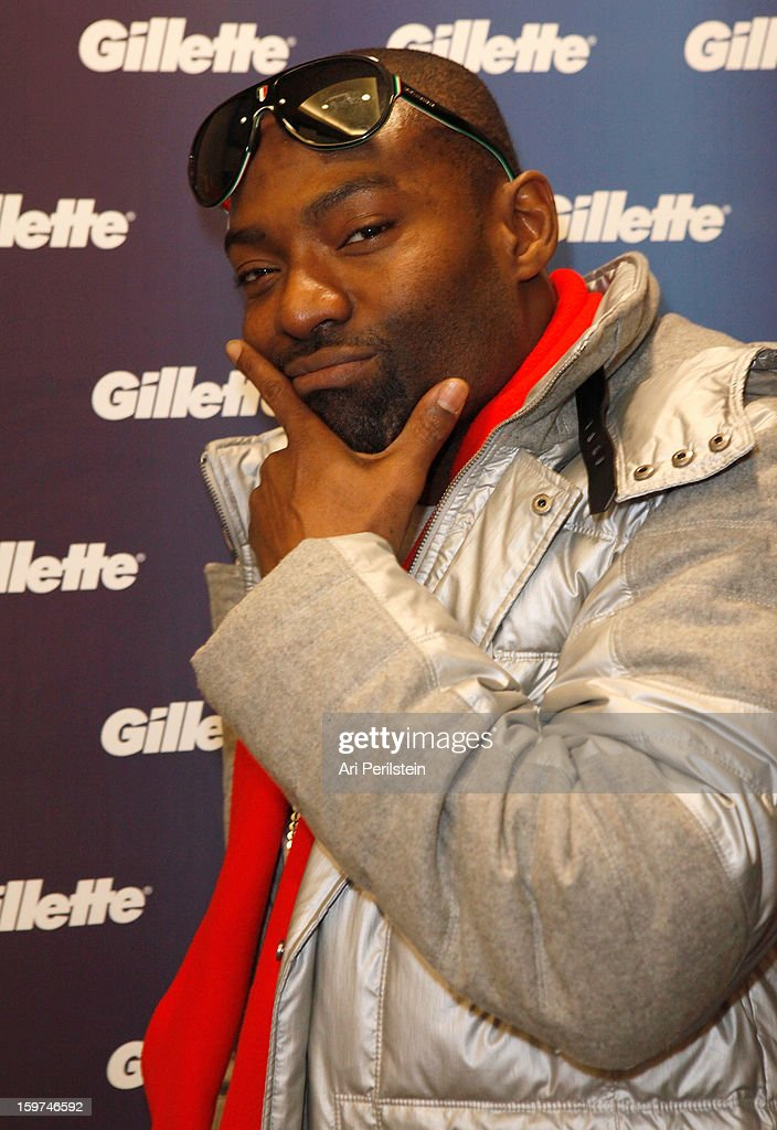 Hassan Johnson attends Gillette Ask Couples at Sundance to 'Kiss & Tell' if They Prefer Stubble or Smooth Shaven - Day 2 on January 19, 2013 in Park City, Utah.