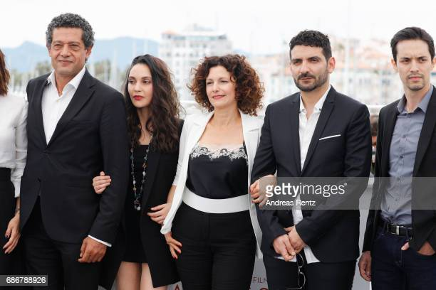 Hassan Kachach Hania Amar Nadia Kaci director Karim Moussaoui and Mehdi Ramdani attend 'Waiting For Swallows ' photocall during the 70th annual...
