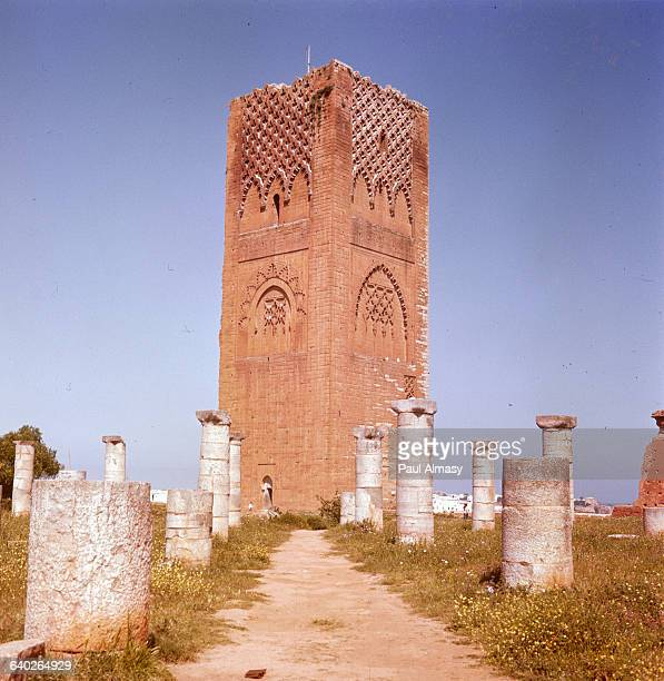 Hassan Tower created by Sultan Yacoub el Mansour in 1194 as part of a mosque that was never completed continued to be a landmark of Rabat Morocco...