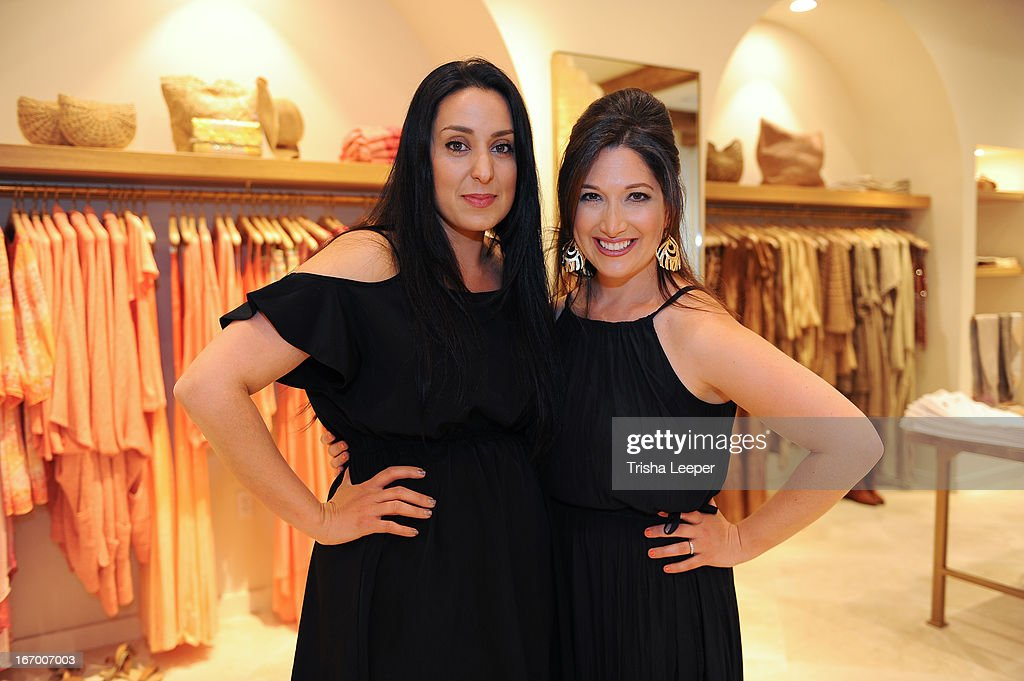 Hasti Kashfia and Randi Zuckerberg attends 'A Balanced Life' discussion panel event at Calypso St. Barth at Stanford Shopping Center on April 18, 2013 in Palo Alto, California.