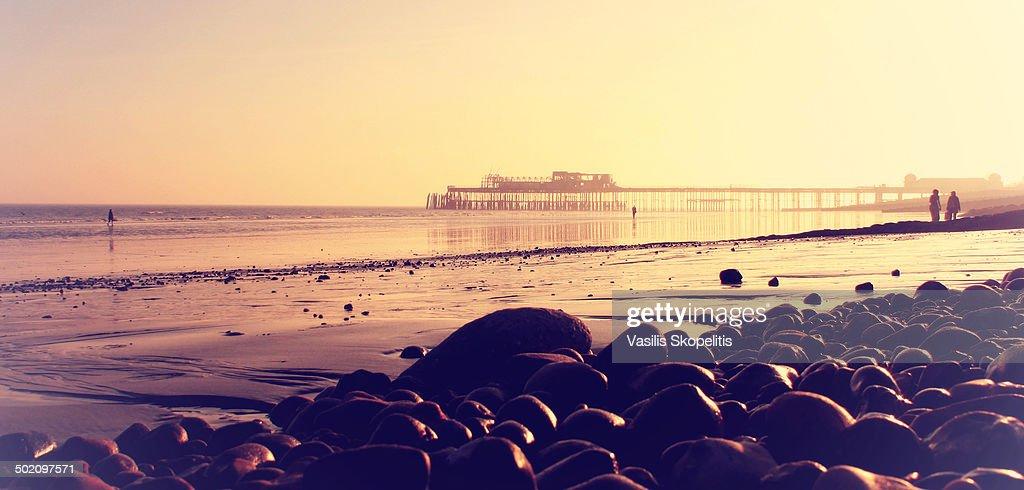 Hastings beach Sunset