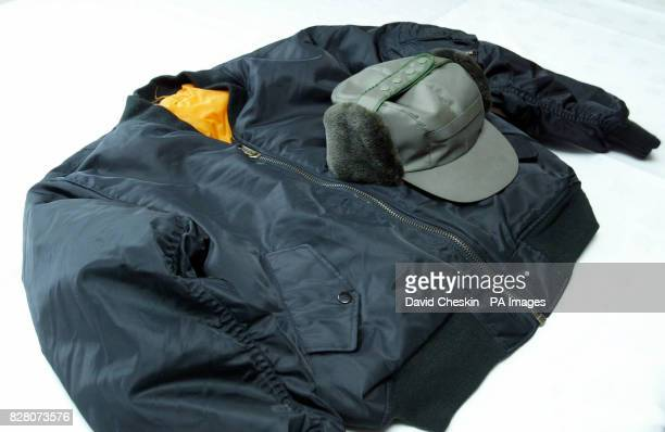 A hat and coat worn by a man seen in the area where Rory Blackhall was found dead on Nellburn path Livingston which was on show at a police press...