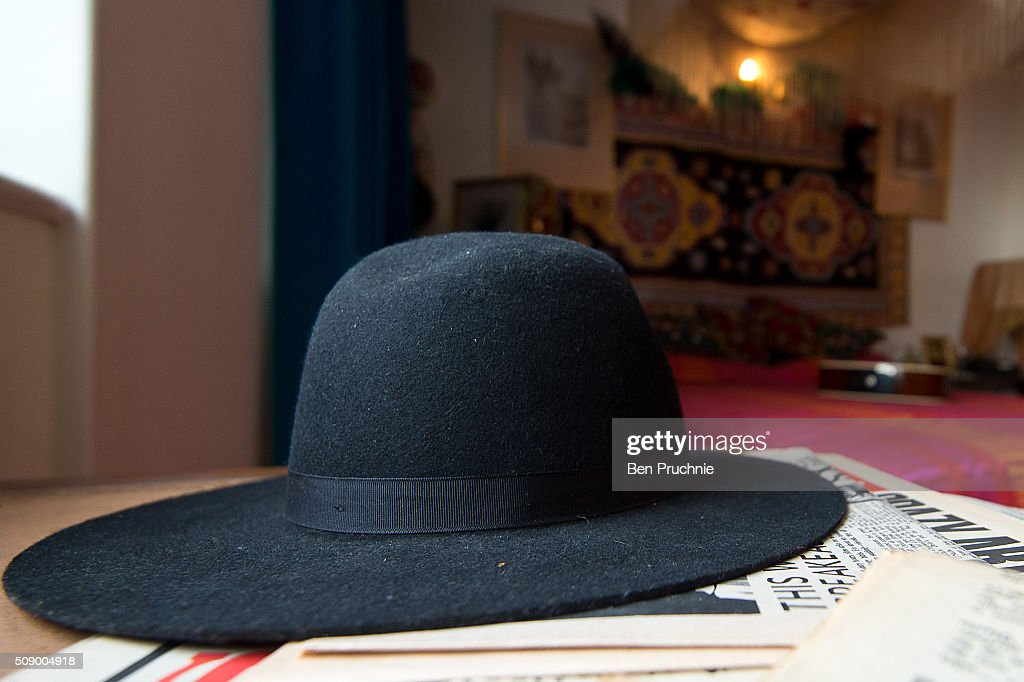 A hat displayed in a recreation of Jimi Hendrix's bedroom as it is displayed as part of the Handel and Hendrix exhibition on February 8, 2016 in London, England. The permanent exhibtion in the former London home of Jimi Hendrix celebrates the lives of Jimi Hendrix and George Frideric Handel who also lived in the property next door in the 1700s.