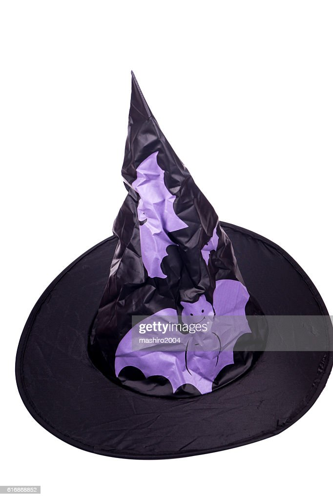 hat halloween witch with pumpkin : Stock Photo