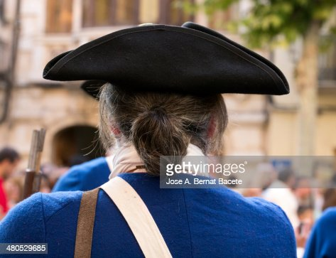 Hat of a soldier of epoch with cue and jacket : Stockfoto