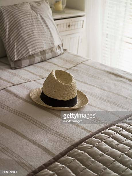 Hat on bed