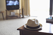Hat on coffee table