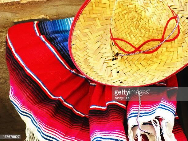 Hat Sombrero Mexican Blanket