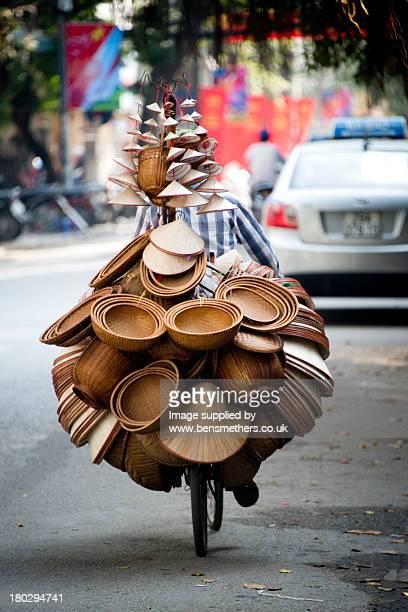 Hat vendor, Hanoi, Vietnam