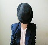 hat very shy