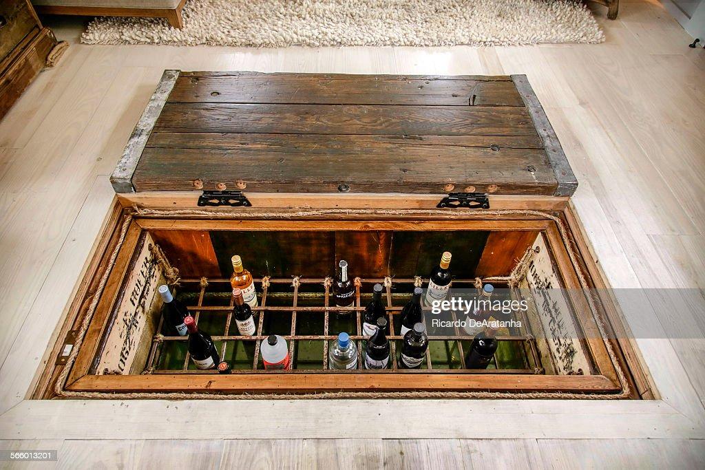 Wine cellar in floor home design for Wine cellar floor plans