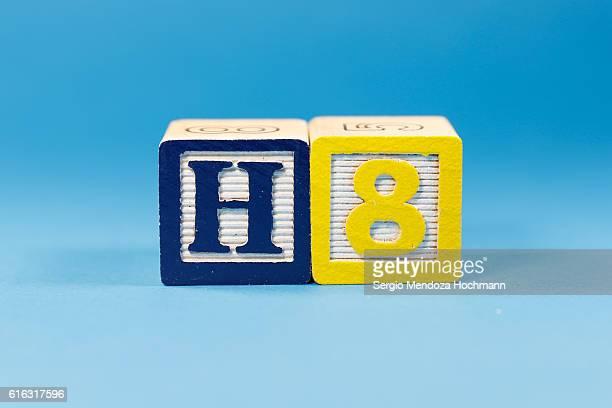 Hate or H8 - Wooden letter blocks