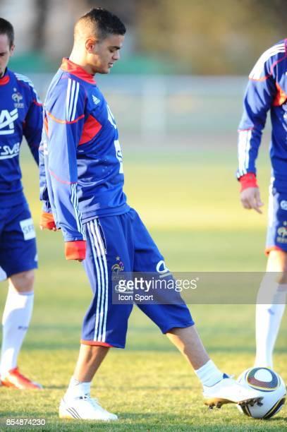 Hatem BEN ARFA Entrainement equipe de France avant le match contre l Espagne Clairefontaine