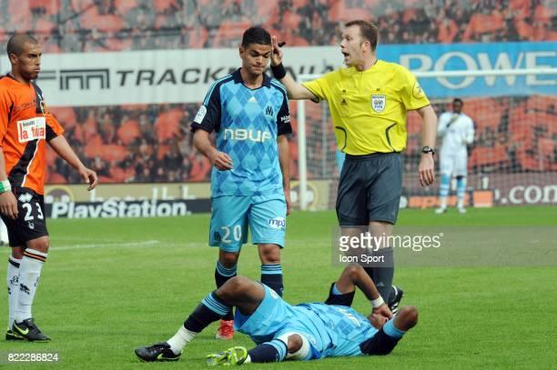 Hatem BEN ARFA / BRANDAO / Olivier THUAL Lorient / Marseille 32 eme journee de Ligue 2 Stade Yves Allainmat Lorient