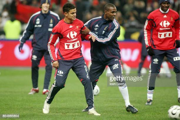 Hatem BEN ARFA / Eric ABIDAL France/ Maroc Match amical