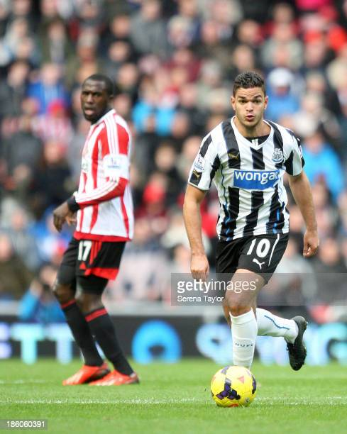 Hatem Ben Arfa in action during the Barclays Premier League match between Sunderland and Newcastle United at The Stadium of Light on October 27 in...