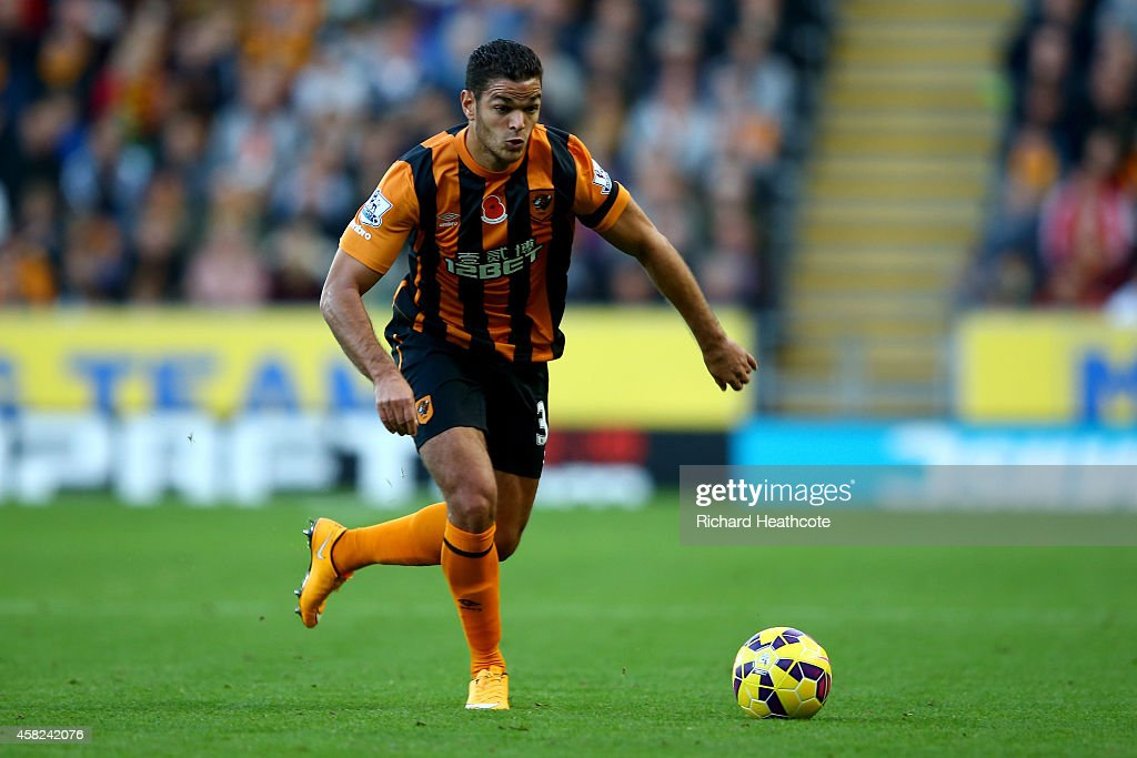 <a gi-track='captionPersonalityLinkClicked' href=/galleries/search?phrase=Hatem+Ben+Arfa&family=editorial&specificpeople=825038 ng-click='$event.stopPropagation()'>Hatem Ben Arfa</a> of Hull in action during the Barclays Premier League match between Hull City and Southampton at the KC Stadium on November 1, 2014 in Hull, England.
