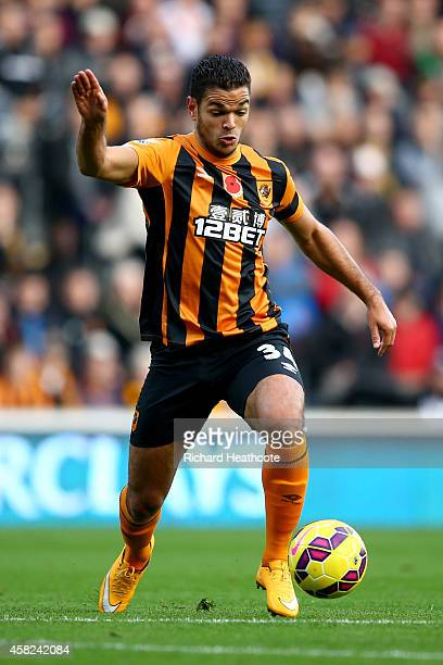 Hatem Ben Arfa of Hull in action during the Barclays Premier League match between Hull City and Southampton at the KC Stadium on November 1 2014 in...