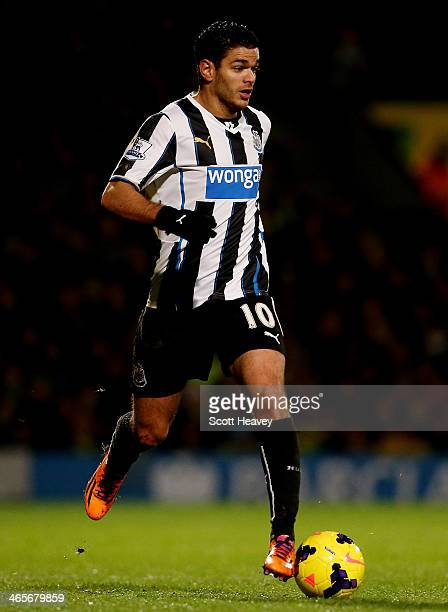 Hatem Ben Arfa of Newcastle during the Barclays Premier League match between Norwich City and Newcastle United at Carrow Road on January 28 2014 in...