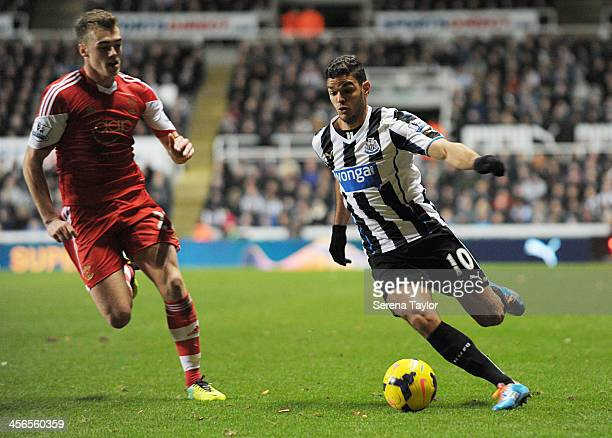 Hatem Ben Arfa of Newcastle in action during the Barclays Premier League match between Newcastle United and Southampton at StJames' Park on December...