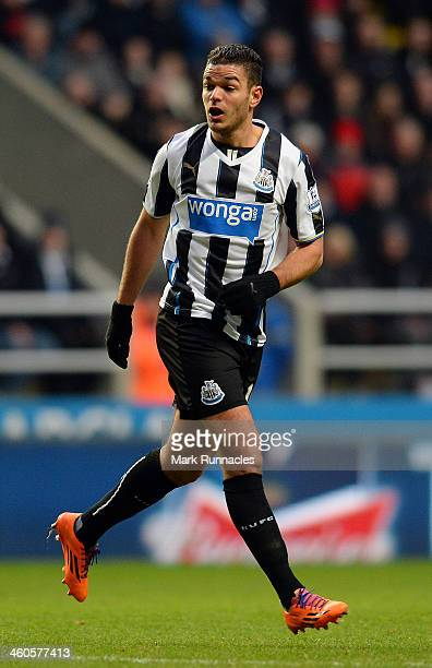 Hatem Ben Arfa of Newcastle in action during the Budweiser FA Cup Third Round match between Newcastle United and Cardiff City at St James Park on...
