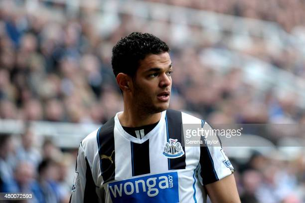 Hatem Ben Arfa of Newcastle looks out during the Barclays Premier League match between Newcastle United and Crystal Palace at St James' Park on March...