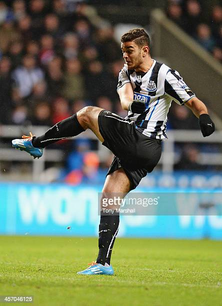 Hatem Ben Arfa of Newcastle United during the Barclays Premier League match between Newcastle United and Southampton at St James' Park on December 14...
