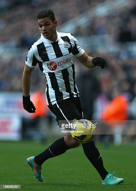 Hatem Ben Arfa of Newcastle United in action during the Barclays Premier League match between Newcastle United and Swansea City at St James' Park on...