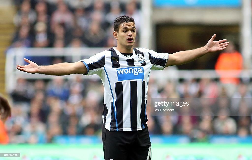 <a gi-track='captionPersonalityLinkClicked' href=/galleries/search?phrase=Hatem+Ben+Arfa&family=editorial&specificpeople=825038 ng-click='$event.stopPropagation()'>Hatem Ben Arfa</a> of Newcastle United reacts during the Barclays Premier League game between Newcastle United and Liverpool at St James' Park on October 19, 2013 in Newcastle upon Tyne, England.