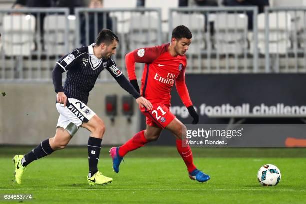 Hatem Ben Arfa of Paris SG and Milan Gajic of Bordeaux during the Ligue 1 match between Girondins Bordeaux and Paris Saint Germain PSG at Nouveau...