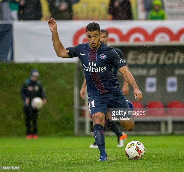Hatem Ben Arfa of Paris St Germain seen during a friendly match against West Bromwich Albion on July 13 2016 in Schladming Austria