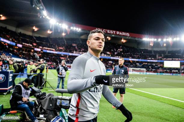 Hatem Ben Arfa of PSG during the French Ligue 1 match between Paris Saint Germain and Lyon at Parc des Princes on March 19 2017 in Paris France